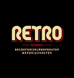 retro style font design eighties inspired vector image