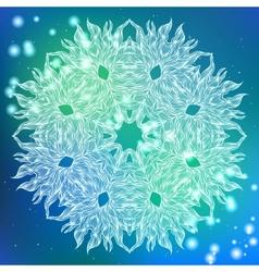round decorative ornamental mandala vector image
