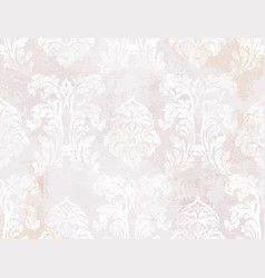 royal baroque texture pattern floral vector image