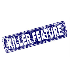Scratched killer feature framed rounded rectangle vector