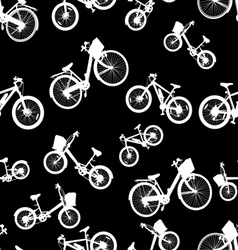 Seamless white bicycle bike vector