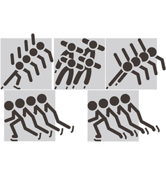 short treck icons vector image
