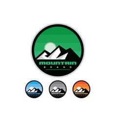 Silhouette mountain badges vector