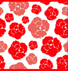 simple rose pattern vector image