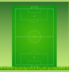 Soccer field with grass on green backdrop vector