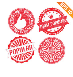 Stamp sticker most popular collection - - E vector