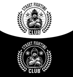 Street fighting vector image