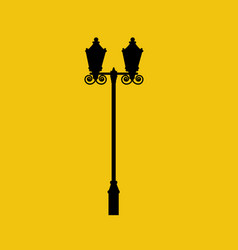 street light silhouette vector image
