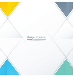 template triangle design yellow blue green vector image