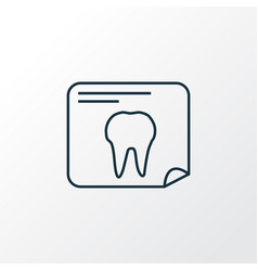 tooth x-ray icon line symbol premium quality vector image