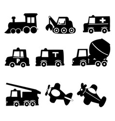 transportation icons set eps 10 vector image