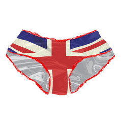 union jack knickers vector image