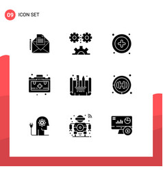 Universal icon symbols group 9 modern solid vector