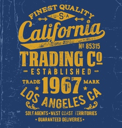 Vintage Type Lock-Up Apparel Design vector