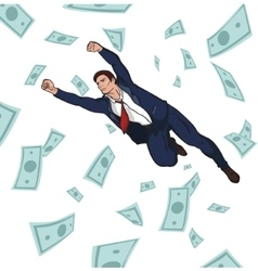 Young successful businessman Career Profit vector