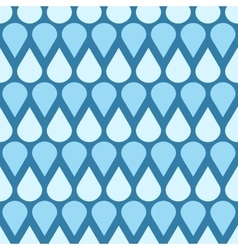 Blue falling water drops seamless pattern vector image