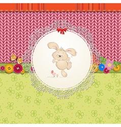 card rabbit vector image vector image