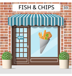 fish and chips cafe vector image vector image