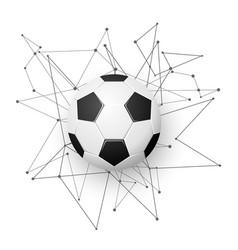 football emblem template vector image