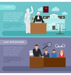 Law banners vector image