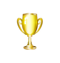 realistic golden cup trophy isolated vector image vector image