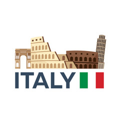 travel to italy rome skyline vector image