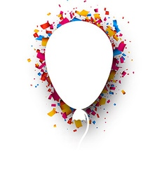 Background with balloon vector image