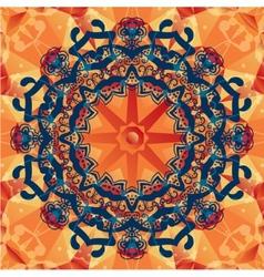 mandala decorative background Template frame vector image
