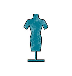 manikin model clothes vector image