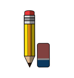 pencil with eraser vector image