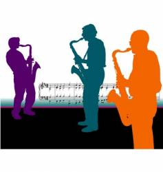 sax-guys vector image vector image