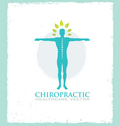 chiropractic massage back pain and osteopathy vector image