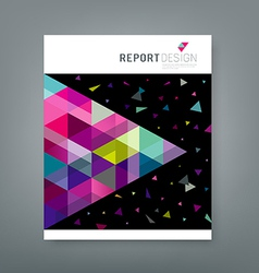 Cover report abstract triangle geometry colorful vector image vector image