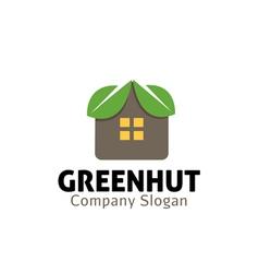 Green hut design vector