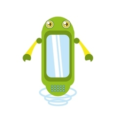 green robot technology innovation vector image