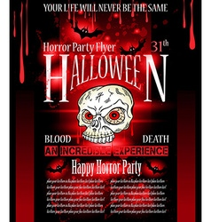 Halloween Horror Party flyer vector image vector image