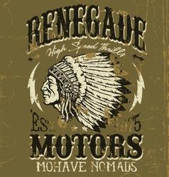 Vintage Americana Motorcycle Apparel Design vector image