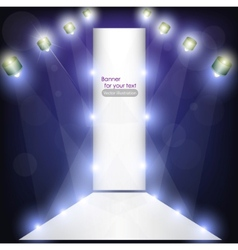 empty podium for product advertising with lighting vector image