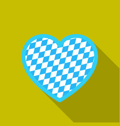 oktoberfest heart icon in flat style isolated on vector image vector image
