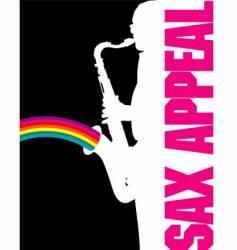 sax-rainbow vector image