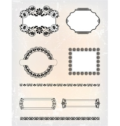 set of abstract antique pattern vector image vector image