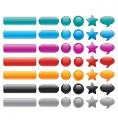 website buttons vector image