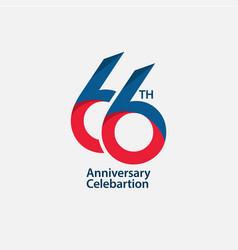 66 th anniversary celebration template design vector