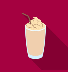 a glass of frappedifferent types of coffee single vector image