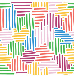 Abstract background for kids woven stripes vector