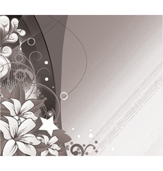 Abstract floral wallpaper with wave vector