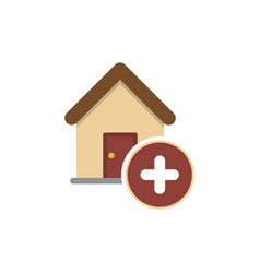 add building icon vector image