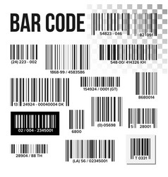 bar code set price scan product label vector image