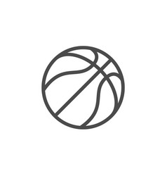 basketball ball line outline icon vector image