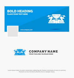 blue business logo template for allocation group vector image